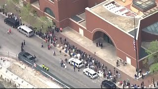 Boston bomber verdict - aerial shots outside court