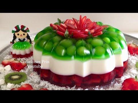 Gelatina Tricolor fiestas patrias