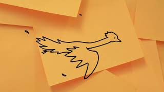 Phoenix - Recycled Post-It Notes