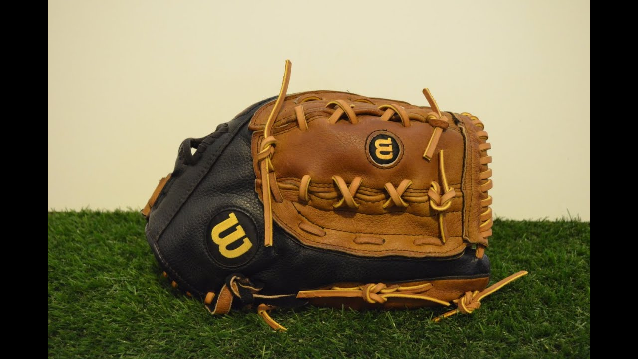 Baseball Glove Repair : Wilson a es baseball glove relace before and after