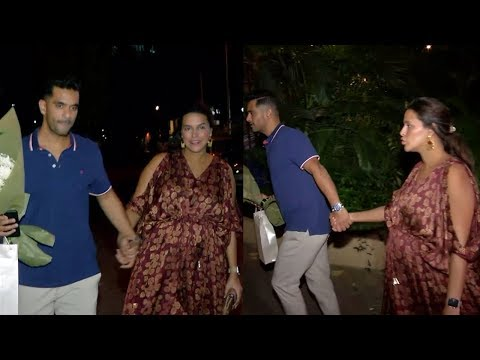 Pregnant Neha Dhupia Finds It Very Hard To Walk With Huge Baby Bump