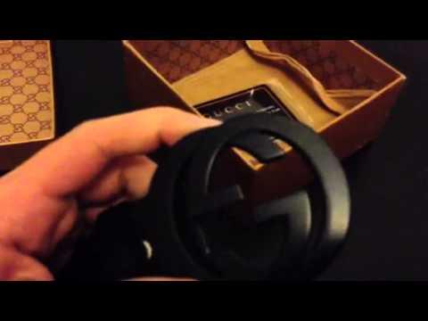 Gucci Belt Serial Number >> Gucci Belt Black on Black unboxing iOffer - YouTube