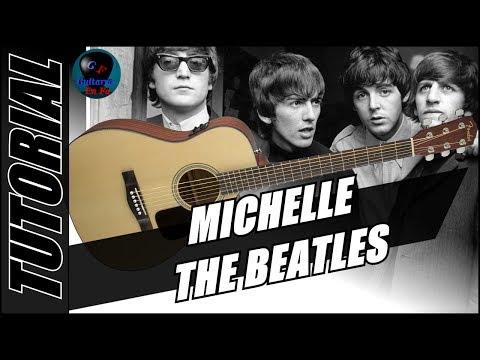 Cómo tocar Michelle en guitarra - The Beatles - (TUTORIAL)