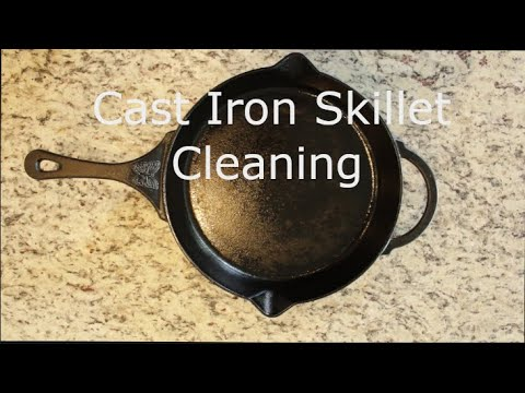 BEST Cast Iron Cleaning for burnt BACON