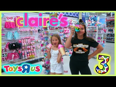 """3 ITEMS SHOPPING  CHALLENGE """"TOYS R US / CLAIRE'S """" SISTER FOREVER"""""""