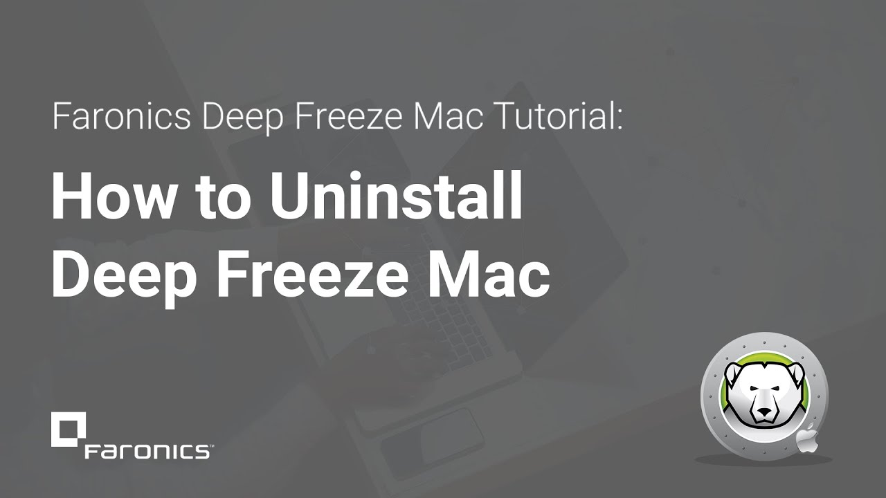 uninstall deep freeze mac os x