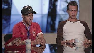 أخر النهار - لقاء حصري مع محمود - الراقص بالعكاز وحسني نصر - المشجع الباكي في مباراة مصر والكنغو