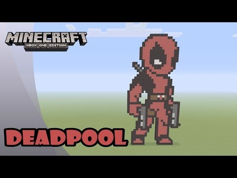 Minecraft: Pixel Art Tutorial and Showcase: DEADPOOL (Marvel Comics)