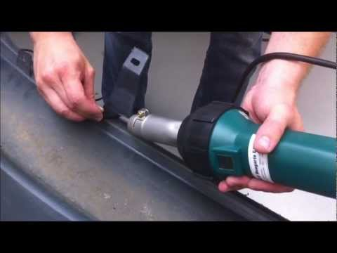 126462f5d7ec Műanyag lökhárító hegesztése Herz RION hőlégfúvóval - Plastic welding KIT