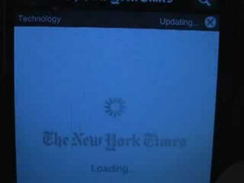 NY Times and NetNewsWire for iPhone