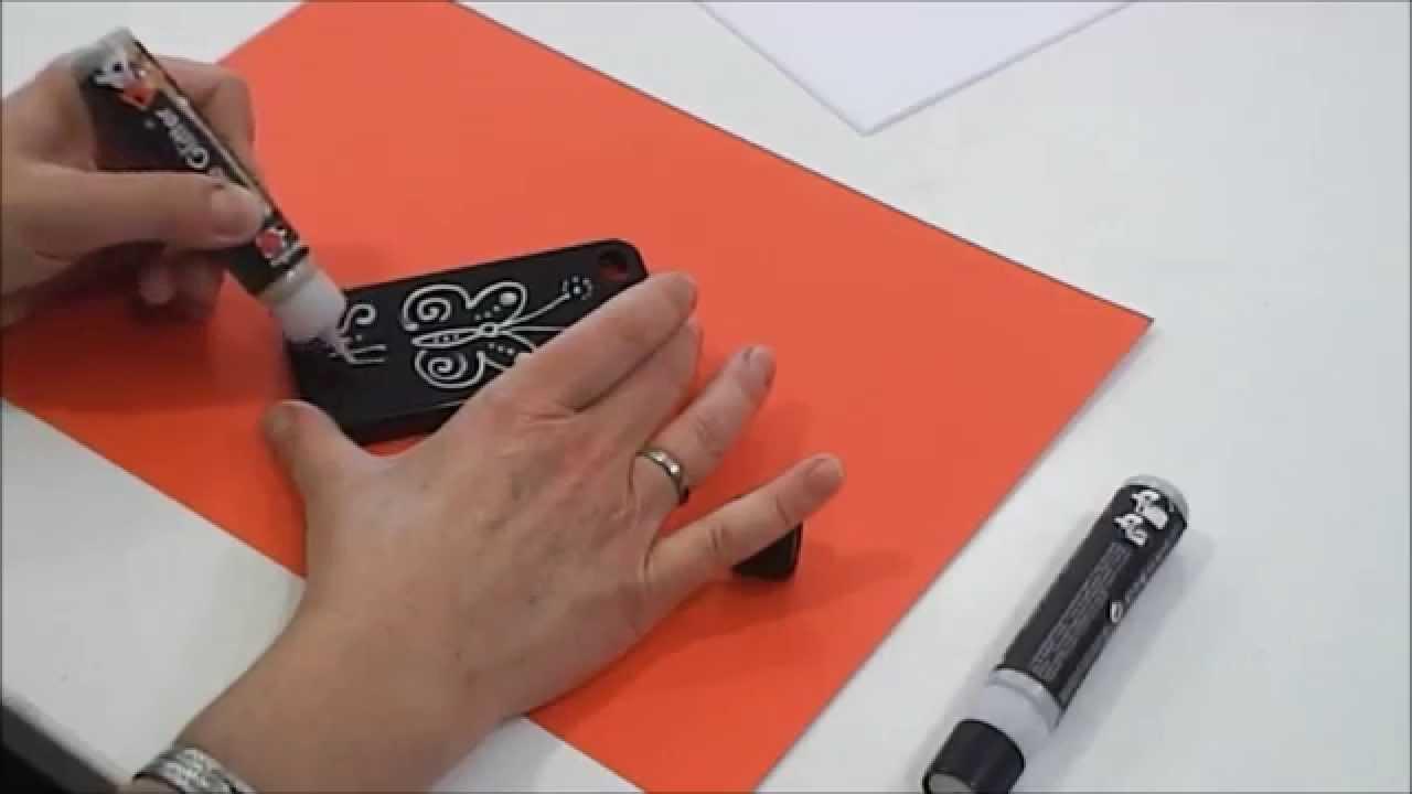marabu anleitungsvideo stylische smartphone h llen mit. Black Bedroom Furniture Sets. Home Design Ideas