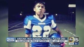 Arizona high school football player collapses, dies on field