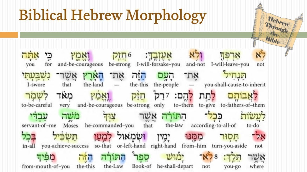 Biblical Hebrew Morphology (Online Course)