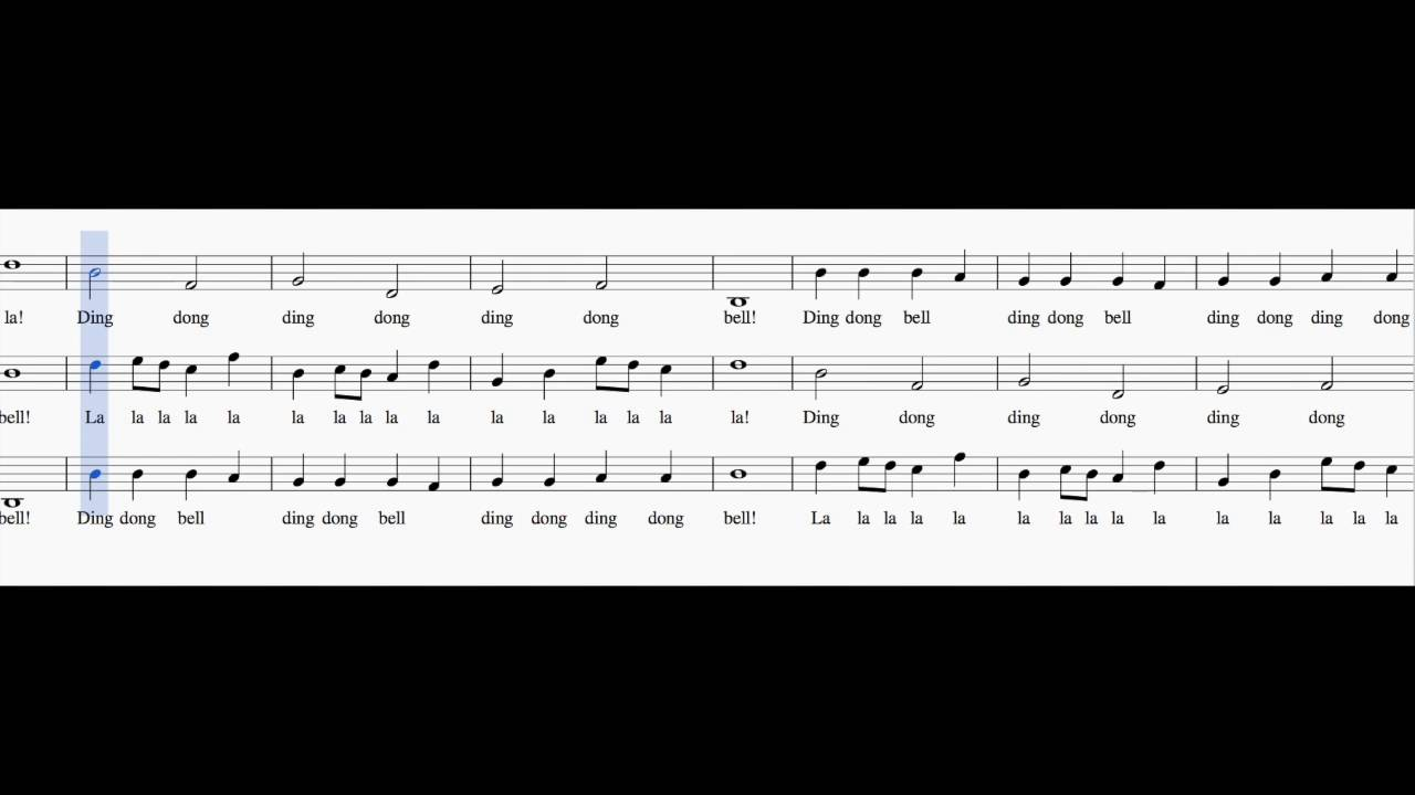 Ding dong bell - Playback - YouTube