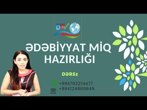 Ədəbiyyat  MİQ Dərs 2 ( Kitabi Dədə Qorqud )