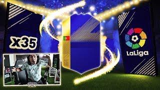 I PACKED 4 LA LIGA TOTS!!! FIFA 18
