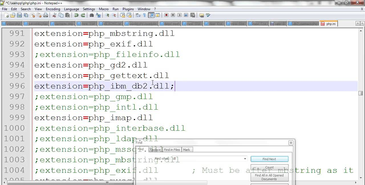 PHP connect IBM db2 database in XAMPP