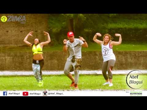Soca remix dancehall Zumba routine by Atef Blagui Feat Sofia Imchal ; Bicycle Ride