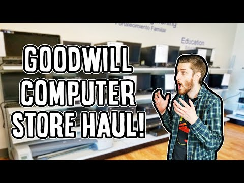 Goodwill Outlet and Computer Store Haul!!