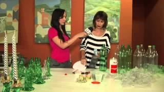 TV Banqueta - Enfeite de Natal por garrafa pet