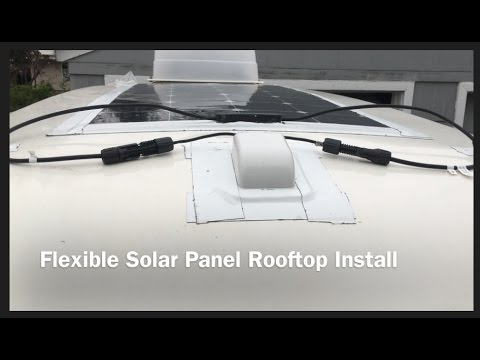 Flexible Solar Panel Install On My Casita Patriot Youtube