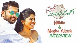 Nithin And Megha Akash Interview About Chal Mohan Ranga | TFPC
