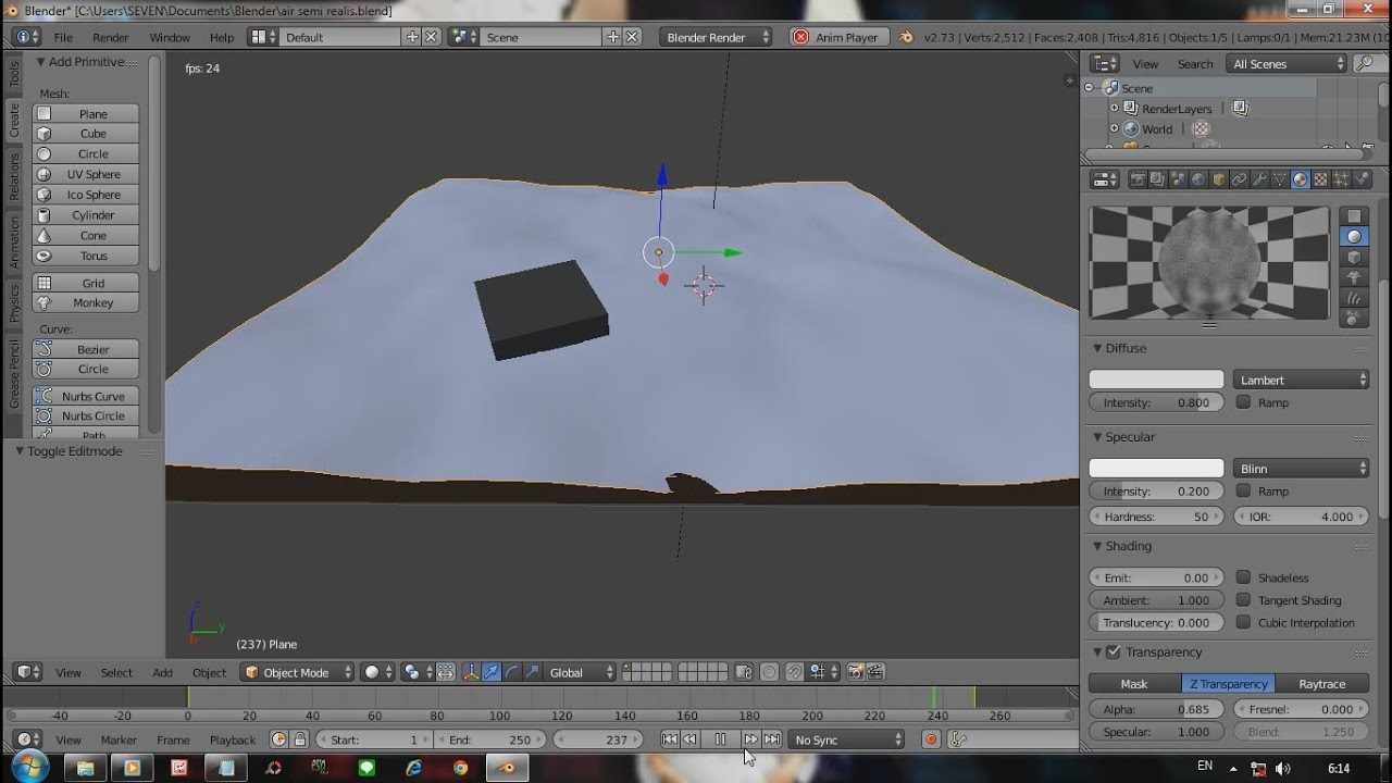 how to add water in blender