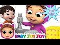 Pop Goes the Weasel | 5 Little Babies Toy Surprises | Learn Colors