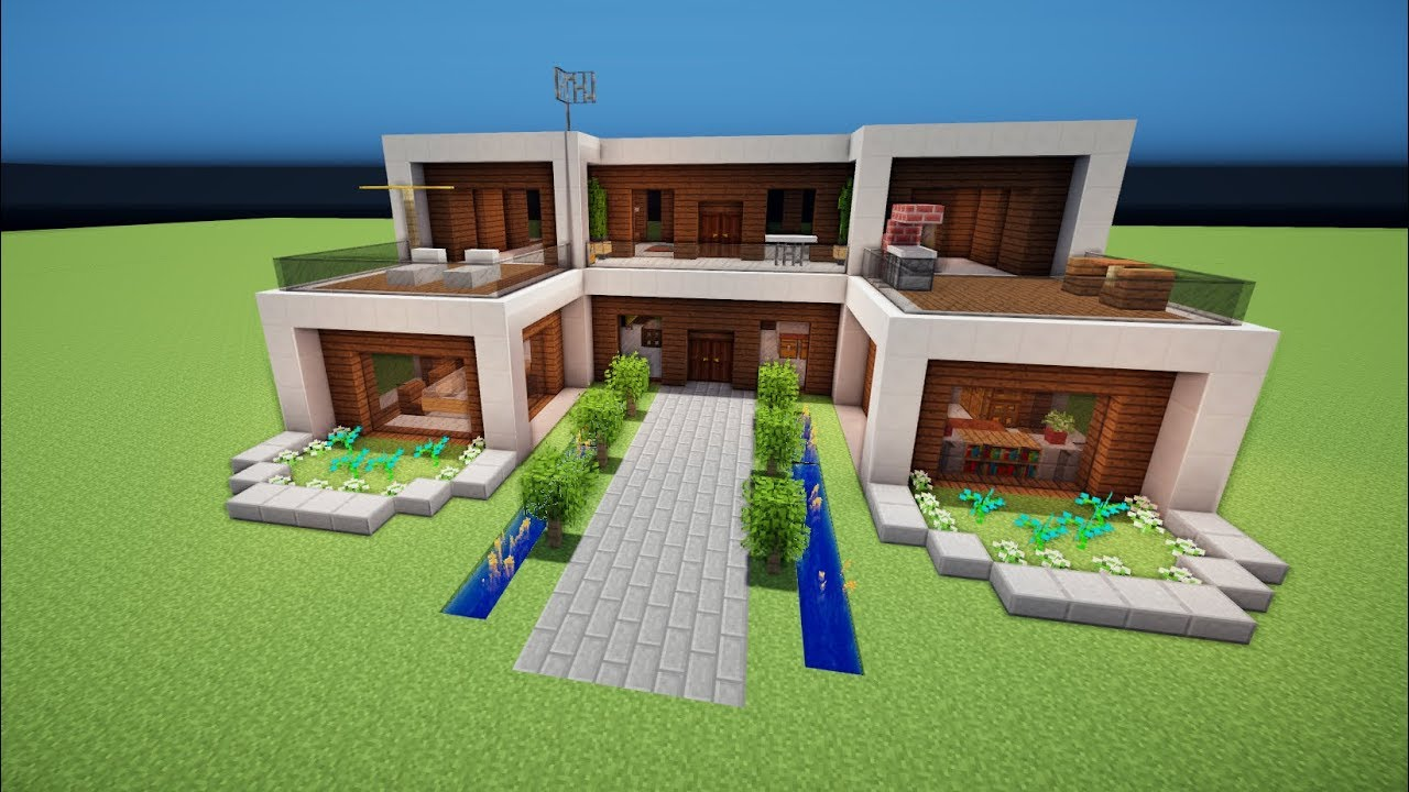Minecraft modernes haus bauen tutorial haus 101 youtube for Modernes haus bauen