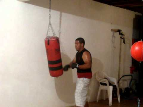 Jose luis garage gym heavy bag youtube