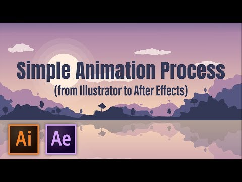Animate A Simple Scene | Illustrator & After Effects Workflow Tutorial thumbnail