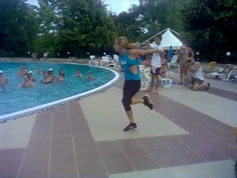 Aqua Zumba(R) Class with Sanda Kruger In Neptun, Romania