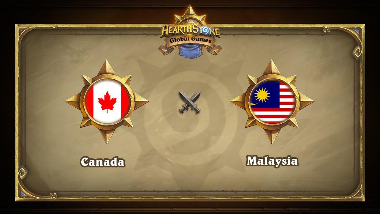 Канада vs Малайзия | Canada vs Malaysia | Hearthstone Global Games (26.05.2017)