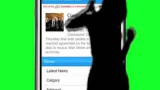 Calgary Herald iPhone optimized site iPod Parody