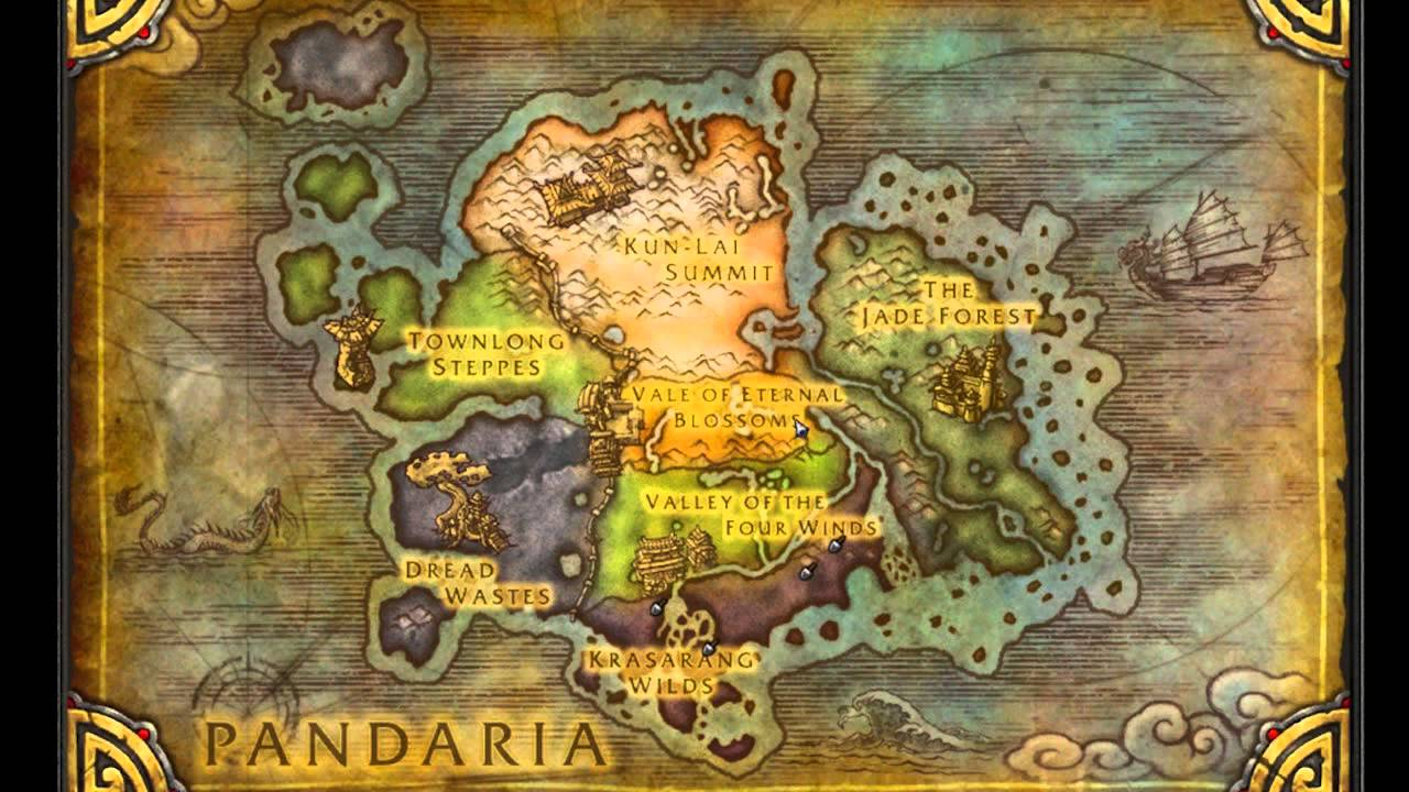 Mist Of Pandaria Map Overlay Hd Youtube