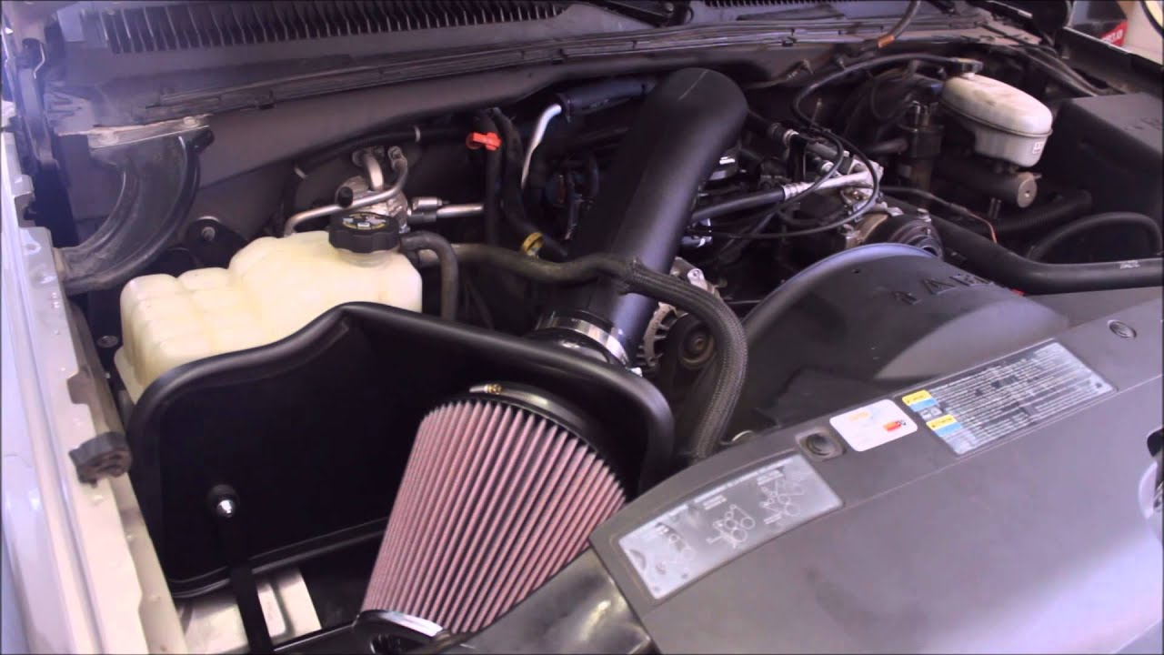 Cold Air Intake For Chevy Silverado 1500 >> K N Air Intake 2003 Silverado 1500 4 3l V6 Youtube