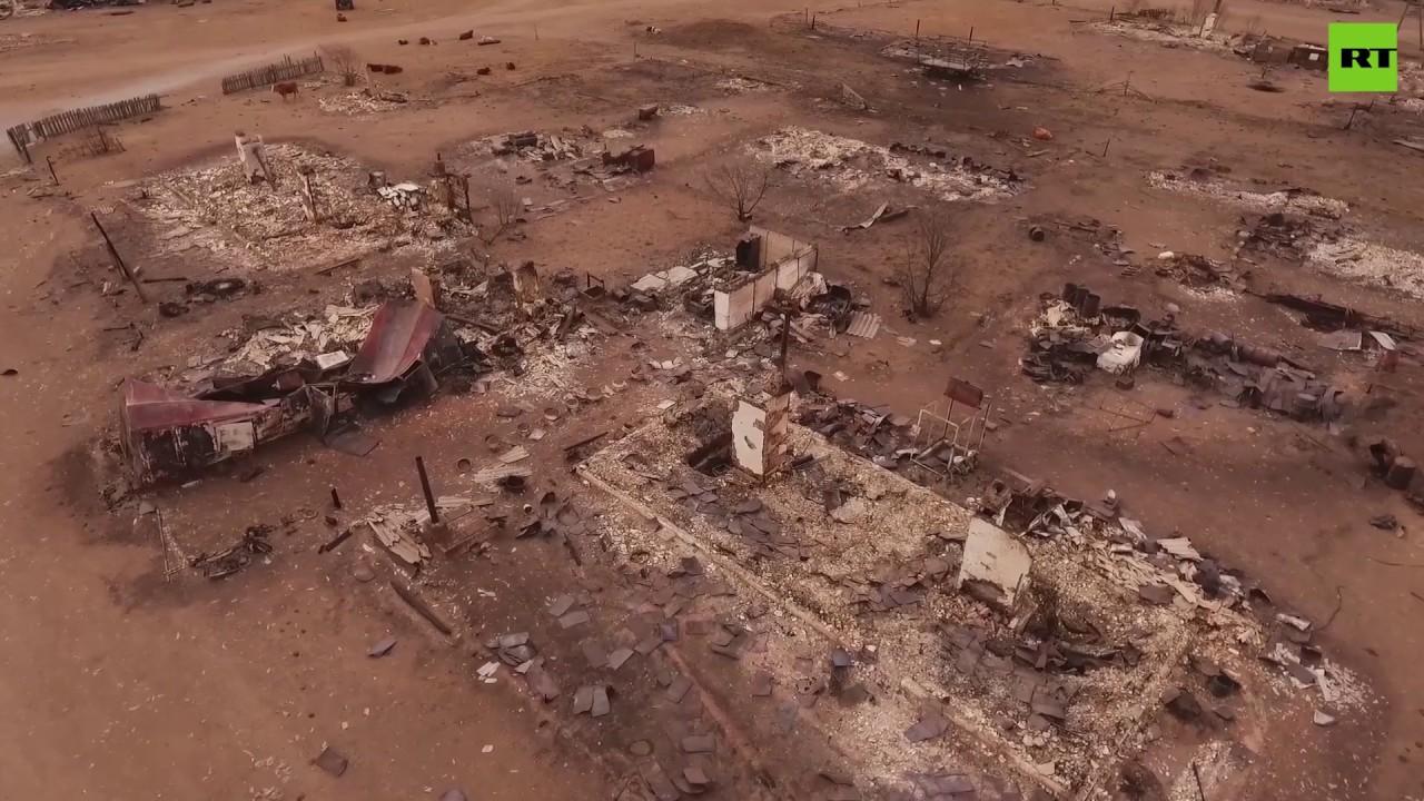 После пожара: Забайкалье