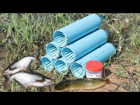 We Survival - How To Make Fish Trap From PVC Water Pipe