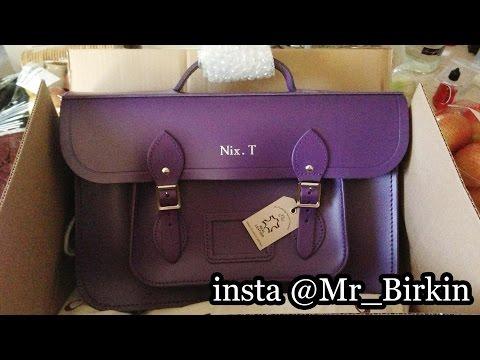 "The Cambridge Satchel Company Batchel 15"" inch in Purple Review - Mr Birkin"