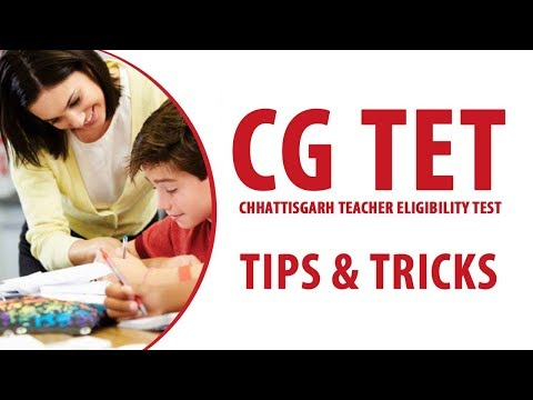 Preparation Tips and Tricks to Crack CG TET Exam