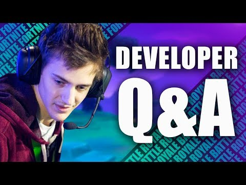 Fortnite Developer Q&A / Suggestions with Ninja ( Fortnite Battle Royale)