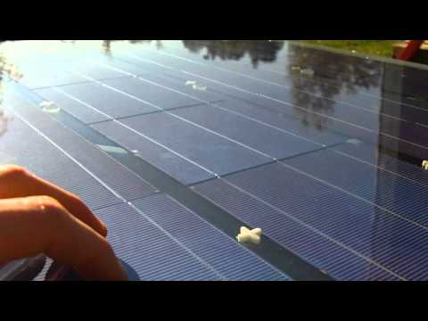 DIY Solar Hydrogen / HHO gas Production Panel