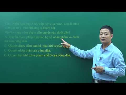 Bài giảng PEN I 2017: Môn GDCD của thầy Trần Văng Năng