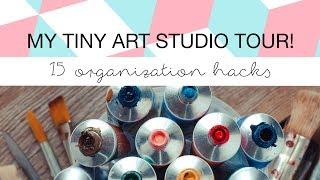 Gambar cover Minimalist Art Studio / Work Space Tour | Tips & Ideas