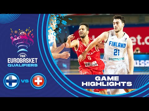 Finland - Switzerland | Highlights - FIBA EuroBasket 2022 Qualifiers
