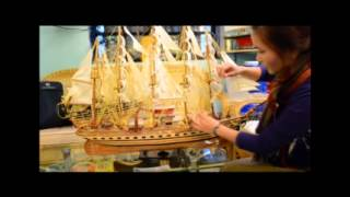Instruction : How To Set The Wooden Model Boat Up # No2