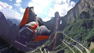 China Wingsuit Basejumping in 360