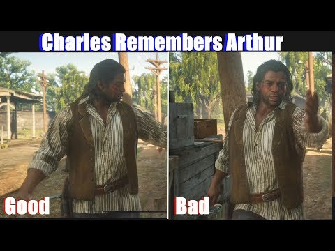 RDR2 Charles Remembers Good Arthur vs Bad Arthur - Red Dead Redemption 2 PS4 Pro thumbnail