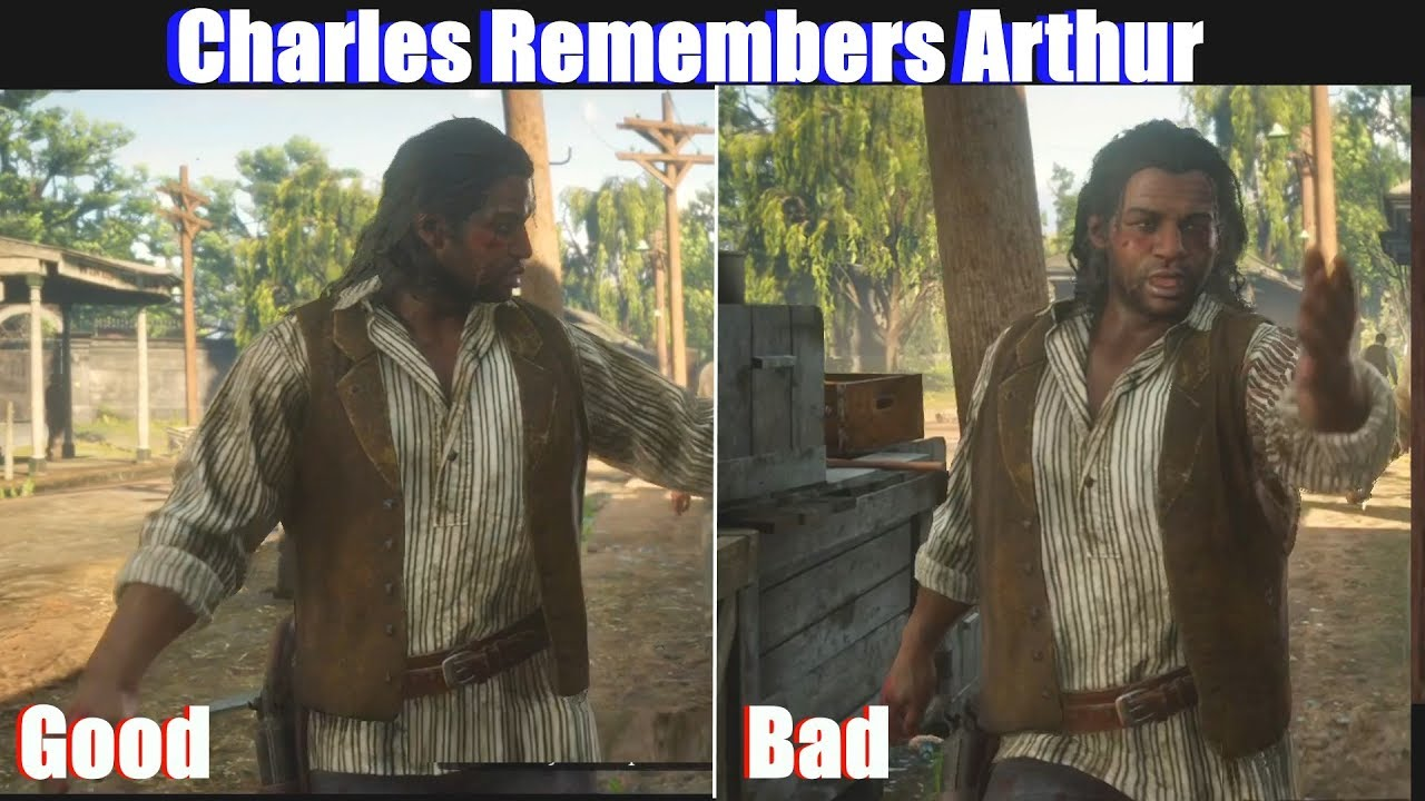 RDR2 Charles Remembers Good Arthur vs Bad Arthur - Red Dead Redemption 2 PS4 Pro