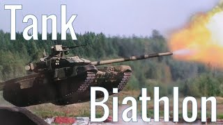 Tank biathlon - Russia crew give a lesson on how to fly Tank T-72B3